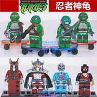 Wholesale 2014 new TMNT toys Mirage Teenage Mutant Ninja Turtles building blocks bricks toys action figure for children s gifts set