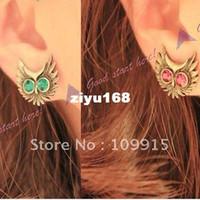 Wholesale Retro Cute Delicate Night Owl Shape Earring Ear Nail Pin Gift Suit in LKE0065