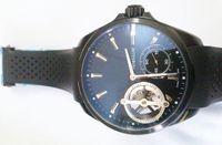 al por mayor relojes antiguos hombre mecánico-Moda Calibre 11 Antiguos Mens relojes de pulsera de lujo Péndulo Tourbillon Mecánico transparente de goma de los hombres casuales de deporte reloj caja de regalo