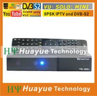 Receivers DVB-S  mini VU+ Solo 2 HD Satellite Receiver with Linux OS 1300 MHz CPU Twin DVB-S2 Tuner 3 USB ports VU SOLO2 mini Free Shipping