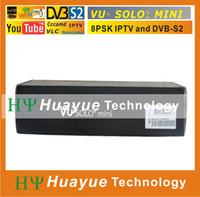 Receivers DVB-S  mini VU+ Solo 2 HD Satellite Receiver with Linux OS 1300 MHz CPU Twin DVB-S2 Tuner VU SOLO2 mini Decoder Free Shipping