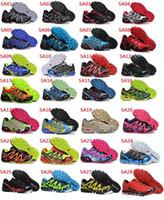 Wholesale Fashion New Korean Men s Salomon Speedcross Athletic Running Sports Man Shoes Outdoor Solomon Trail Racing Shoes