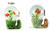 Ceramic glass fish bowl - decorative glass fish bowls live aquarium fish mini aquarium fish tank