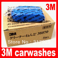 Brush Sponges, Cloths & Brushes Blue New 10pcs lot 3M 180g Car truck Magic Clean Clay Bar 38070 Carwashes Auto Detail Cleaner Clay Bar Wash Sludge Free Shipping