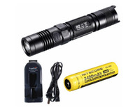 Ultrafire 800lm LED Flashlight Free Shipping!Original Brand NiteCore P12 Precise Cree XM-L2 T6 Flashlight 950 Lumens+NL189 3400mAh+Charger