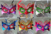 Wholesale Butterfly paintball mask gold shining plated party masks darth vader props masquerade mardi gras mask