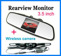 Wholesale New inch LCD Mirror Monitor Ghz Wireless Car Rear View Reversing Camera