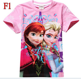 Wholesale 2014 new Children s T shirts colors can choose Frozen T Shirt Elsa Anna Girl Girls Short Sleeve T Shirt Top Teest Shirt