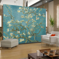 Wholesale World famous oil paintings textile wall murals wallpaper background mural decor entertainment room background wallpaper flowers