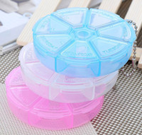 Pill Cases & Splitters Plastic  Free Shipping 3Pcs Lot Portable 7 Days Medicine Storage Box Weekly Pill Case Pill Organizer Home Heath Care Travel Kits