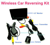"Parking Assistance China (Mainland) Rear View Camera Free shipping!!Wireless 4.3"" LCD Color Car Monitor Reversing Rear View IR Waterproof Camera Kit"