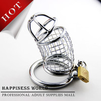 Steel Penis Rings Stainless Steel large size!New Stainless Steel Wire Male Chastity Art Device, Cock Cage, Cock ring, Sex toys For Man
