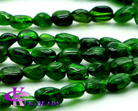 Flowers chrome green - Discount Natural Genuine Green Chrome Diopside Nugget Loose Beads Free Form mm Fit Jewelry Necklace Bracelets quot