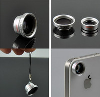 Wholesale Hot sale in Wide Lens Macro Lens Fish Eye Lens For iPhone s s c for all mobile phones Digital Camera