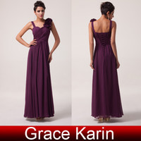 Model Pictures Hand Made Flower Sleeveless Elegant Flower Straps Sweetheart Chiffon Bridesmaid Dresses Floor Length Ruched Grape Prom Party Evening Gowns CL4604