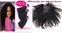 Wholesale mongolian kinky curly hair with closure bundles mingolian kinky curly virgin hair and mongolian kinky curl hair closure