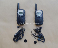 Wholesale 1pair pieces HT Mini Pocket Two Way Radio Walkie Talkie Set Eight Channel Portable Talkie and Walkie Retail Box earphone