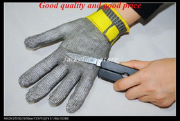 NEW 100%STAINLESS STEEL SAFETY CUT PROOF PROTECT GLOVE METAL MESH BUTCHER
