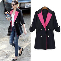 designer coats - New Double Breasted Women s Trench Coat Outwear Panelled Designer Slim Fit Long Coats Business Suit Top S M L XL LJ0801