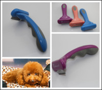 Wholesale 60Pcs Pet Grooming Fasaiton DeShedding Tool for Dogs quot Pet dog brush Purple pink Blue F301