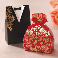 Wholesale Bride and Groom Wedding Favor Boxes paper gift box paper candy box
