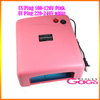 Wholesale Professional Nail Art Nail Dryer UV Lamp W US Plug V EU Plug V Gel Curing UV Nail Lamp with w UV Bulb Dropshipping