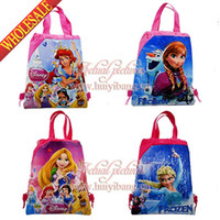 Wholesale Cute New Hot Movie Princess Snow White Drawstring Backpack Bag children shool backpack kids shoulder bags Styles Non woven CM