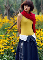Women Polo Tops Candy Color Sleeveless Sling Top Blouses Bottoming Shirt Vest DS1168