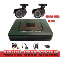 Wholesale CCTV System ch DVR Kit TVL CMOS Bullet Camera ch Full D1 DVR P2P Easy Remote View Internet amp Mobile Phone View Freeshipping
