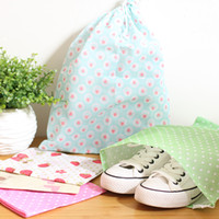 Wholesale Shoes pouch Drawstring Bags Non woven Colorful Storage Bag Travel Essentials Organization