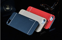 Wholesale MOTOMO Hybrid Case Metal Panel Brushed Aluminum Metal Skin Cover for iphone G S iPhone5G S