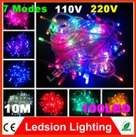 Wholesale 1pcs m colors AC110 V led string light leds wedding Halloween xmas christmas tree decoration lighting Valentine s Day lights