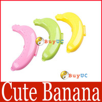 Bamboo Bedding Eco Friendly Cute Banana Fruit Protector Guard Container Storage Case Lunch Trip Outdoor Box