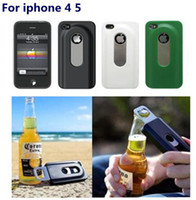 Wholesale Bottle opener case For ipone s iphone4s New Personality Sliding Cell Phone Cover Colors