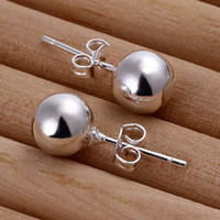 Cheap Stud fashion jewelry Best Women's Silver Plate/Fill earring jewelry