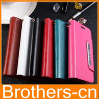 Wholesale Universal Leather case Colorful Crazy Horse Leather Wallet Case Pouch inch to inch Cover for iphone s Samung Galaxy S4 S3