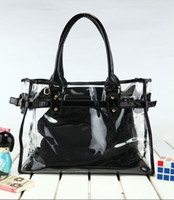 Totes jelly bag - new fshion Color Women Tote Hyaline jelly Bag See Through Bag Transparent Handbag SH