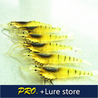 Soft Baits Ocean Beach Fishing Yes Free shipping 20pcs a lot 9cm 3.5g natrual color soft plastic prawn lure bait soft artifical shrimp lure fishing shrimp tackle