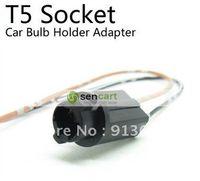 China (Mainland) LED Fog Lights In stock T5 Socket Car Bulb Holder Adapter For Car DIY DASHBOARD LIGHT