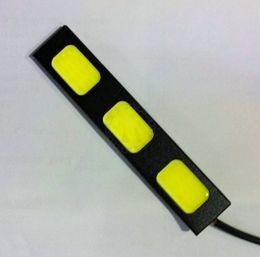 3 COB 18W bright car lamp led car daytime running lights DRL led lamp car 9.2cm daytime lights bright car led free shipping
