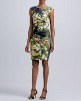 Casual Dresses Halter Knee Length 2014 New Dress Women Dresses Ladies Fashion Dresses Slim waist temperament retro floral sleeveless dress