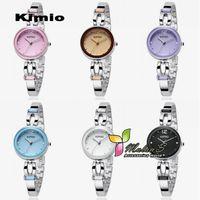 Casual Women's Square 5pcs lot Kimio watches bracelet 2012 ,Japan Quartz Movement Stainless Steel Crystal wrist Watch