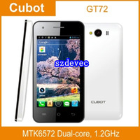 Cubot Dual SIM GSM850 SZDEVEC CUBOT GT72 4.0 Inch WVGA MTK6572 Dual Core 1.2GHz Smart Phone 2.0MP camera Android 4.2 OS GPS WiFi