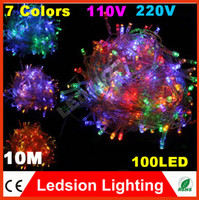 Wholesale 20pcs Christmas Decoration lights M LED string Light V Wedding holiday garland Party outdoor curtain rope lamps colors