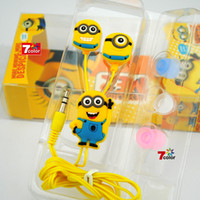 Wholesale Promotion gift Cartoon animation headset Despicable me Memorial earphones In ear in ear headphones mp3 mp4 accessories