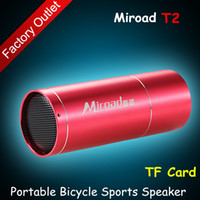 2 Universal MP3 Speaker Hot Sale bicycle sports speaker Aluminum housings portable outdoor for iPhone Samsung iPad Smart Phones Tablet PSP MP3 super bass TF Card