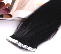 Wholesale Jet Black Indian Remy PU Tip Tape Skin Weft Hair Extensions quot quot quot quot Inches g TOP QUALITY