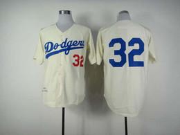 Wholesale 2014 Cheap Baseball Jerseys Men s Sandy Koufax White Cream Throwback Embroidery Logo Football Jerseys Mix Order