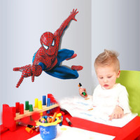 Wholesale Amazing Large Super Spider man Wall Decals Kids Boys Room Decor Wall Stickers