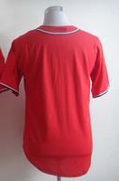football jersey blank - 2014 Cheap Nationals Baseball Jerseys Men s Blank White Red Blue Grey Embroidery Logo Football Jerseys Mix Order